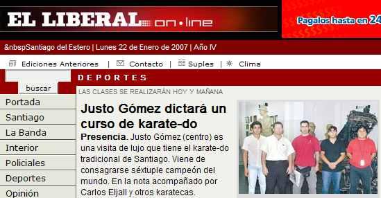 Capacitación de Karate-do en Santiago del Estero
